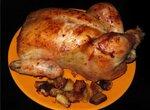 Курица, запеченная с чесноком Улётная птичка
