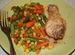 Голень куриная в соусе (пароварка)