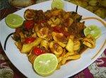 Жаркое из кальмаров Тагин Сибейт (Египетская кухня)