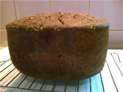 Заварной пшенично-ржаной хлеб в духовке