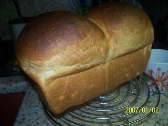 Хлеб пшеничный заварной (духовка)