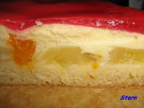 Пирог с творожной заливкой