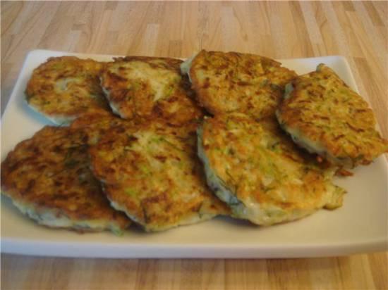 Оладьи кабачковые с сыром
