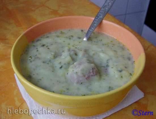 Суп с фрикадельками сливочный