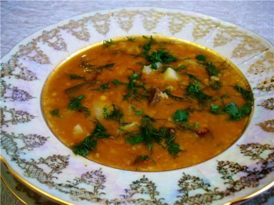 Суп чечевичный по-немецки ( Eintopf-густой суп)
