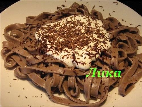 Лапша шоколадная