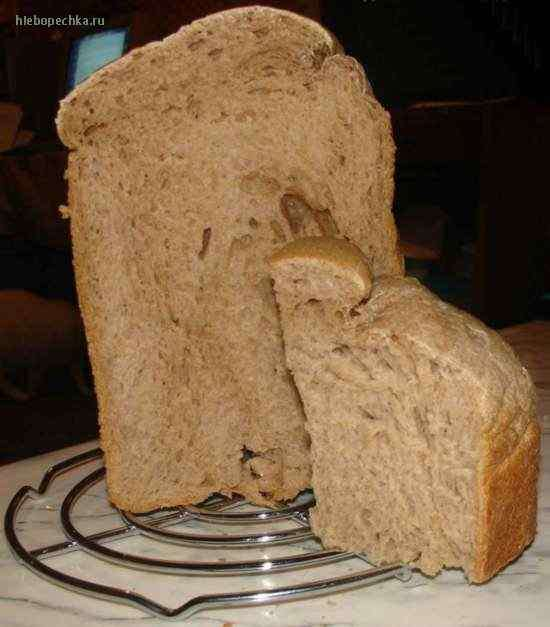 Утренний хлеб для завтрака на закваске Кофейно-сливочный