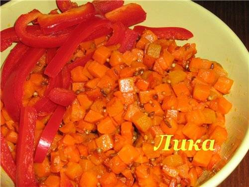 Морковная коврижка Морковь в горчичном масле