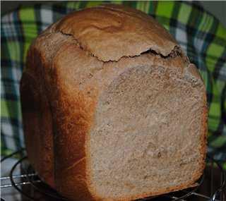 Хлеб сдобный шоколадно-сметанный (хлебопечка)
