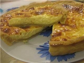 Пирог с сыром и грушами закусочный