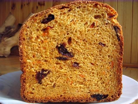 Тыквенно-манный хлеб в хлебопечке