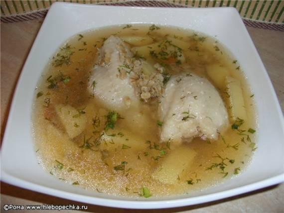 Суп рыбный на курином бульоне