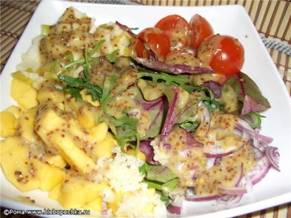 Салаты: рецепты холодных (горячих) из смеси различных овощей с заправками