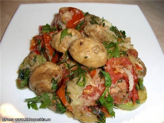 Салат «Овощное ассорти из обжаренных овощей»