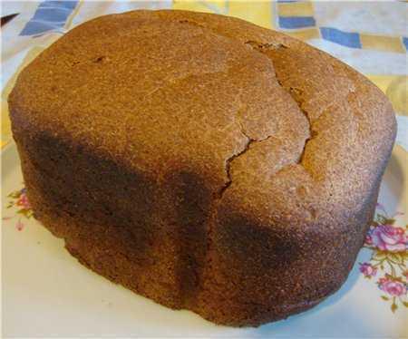 Пшенично-ржаной 50х50 хлеб на живых дрожжах (хлебопечка) Пшенично-ржаной 50х50 хлеб на живых дрожжах (хлебопечка)