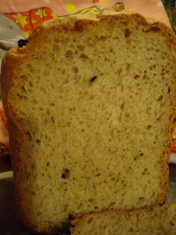 Хлеб пшенично-цельнозерновой 50:50 с оливками в греческом стиле