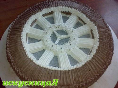 """Торт """"Колесо"""" Мастер-класс"""