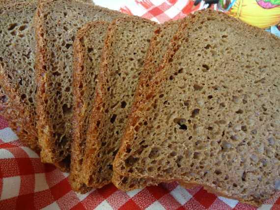 Хлеб ржано-цельнозерновой 50:50 на закваске