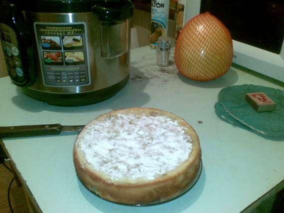 Пирог мандариново-грушевый