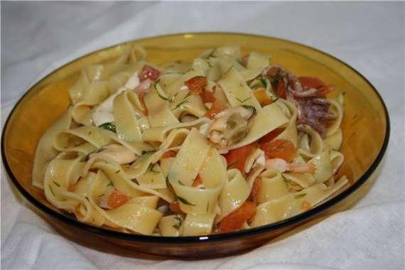 Паста итальянская с морепродуктами