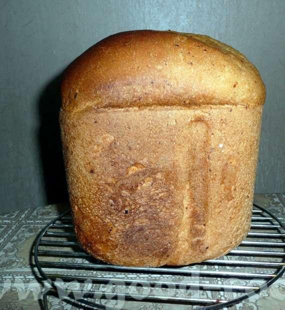 Пшеничный хлеб на кефире с сыром в хлебопечке