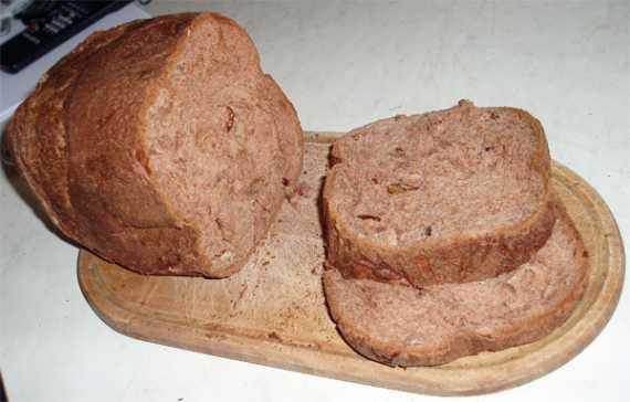 Шоколадный хлеб с грецкими орехами в хлебопечке