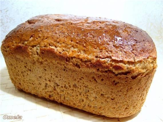 Хлеб пшенично-ржаной с цельным зерном ржи и пшеницы на закваске