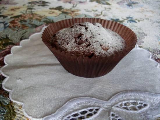 Кексики шоколадно-кофейные с орехами, корицей и изюмом