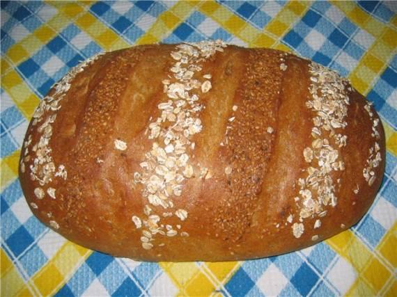 Хлеб пшенично-ржаной ( в духовке)
