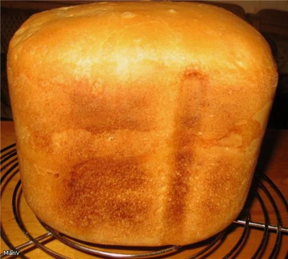 Хлеб пшеничный на французской закваске в хлебопечке