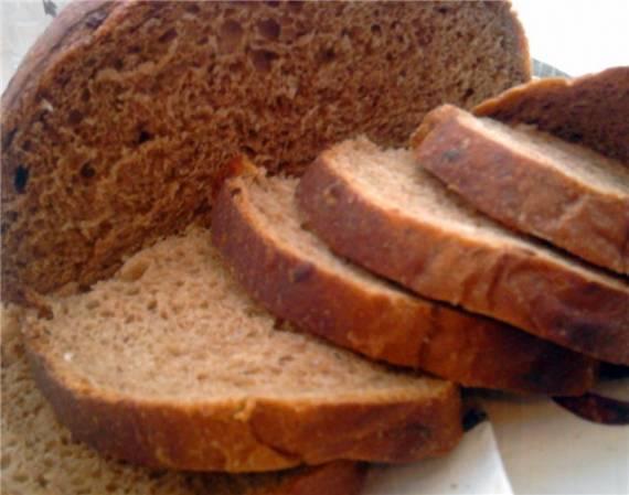 Хлеб пшенично-ржаной на сыворотке с луком в духовке