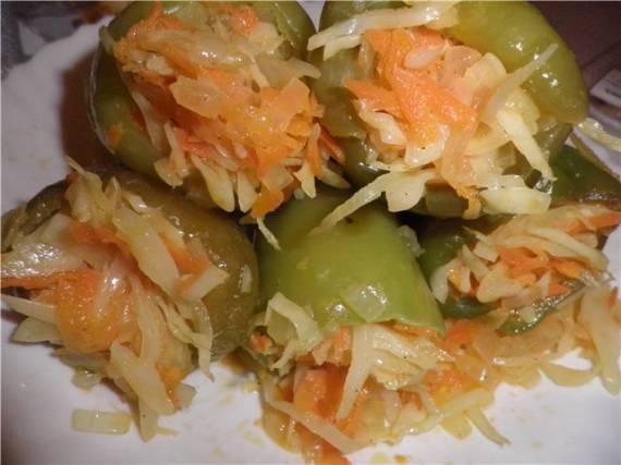перчики фаршированные овощами