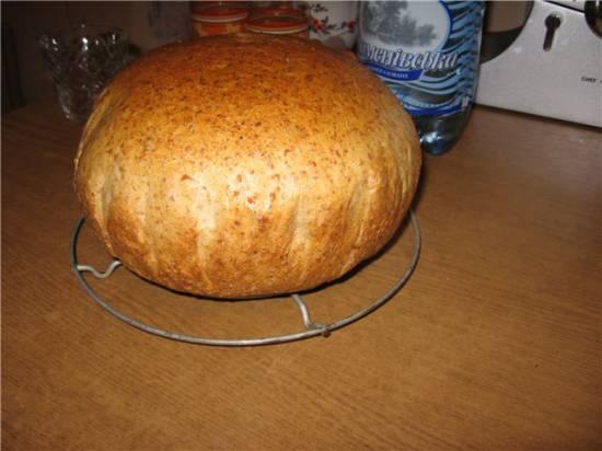 Хлеб на закваске с диспергированным пшеничным зерном ( в духовке)