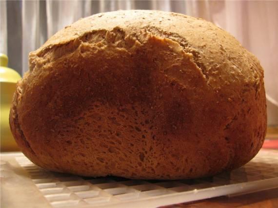 Хлеб по-старинному рецепту (хлебопечка)