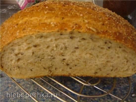 Хлеб пшеничный с отрубями на молочнокислой закваске