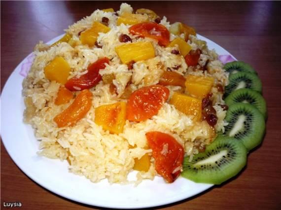 Плов фруктовый на апельсиновом соке (Panasonic SR-TMH 18)