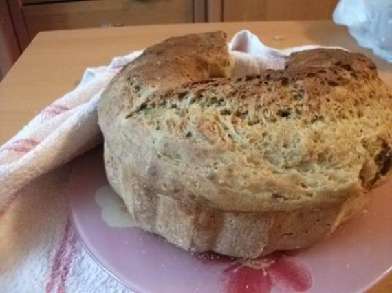 Картофельный хлеб на закваске (постный)