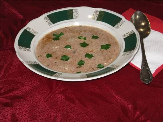 Суп с орехами