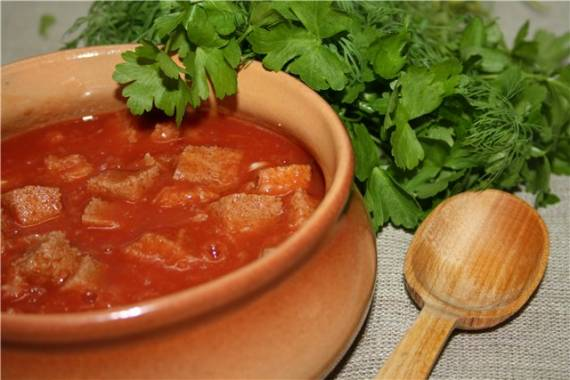 Тюря томатная