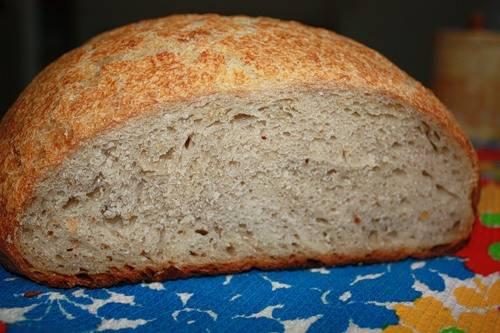 Хлеб по типу итальянского с гречневой мукой (духовка)