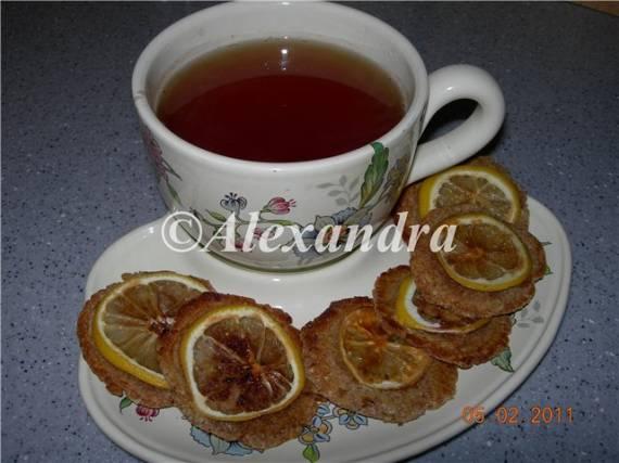 Печенье миндальное цельнозерновое с лимонными дольками