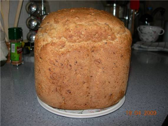 100% цельнозерновой хлеб на домашнем мармеладе