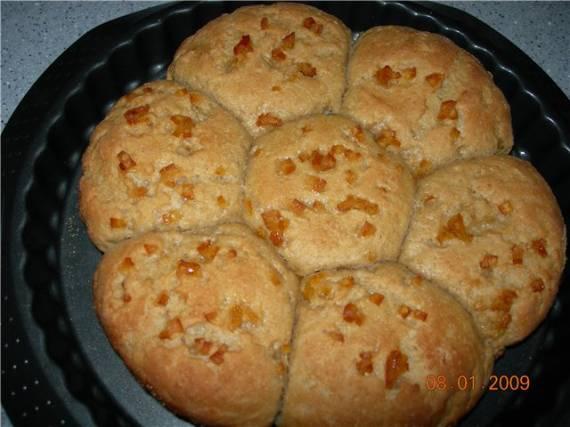 Апельсиновые булочки на закваске