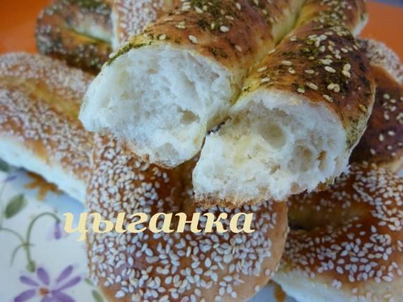 Турецкие бублики с кунжутом (симиты) цельнозерновые
