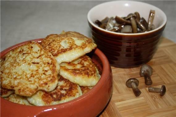 Деруны картофельно-кабачковые