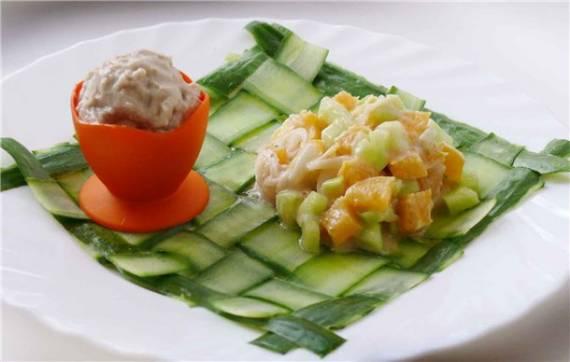 Салат с апельсинами и луком