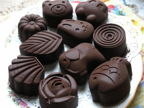Конфеты шоколадные с вафельной начинкой.
