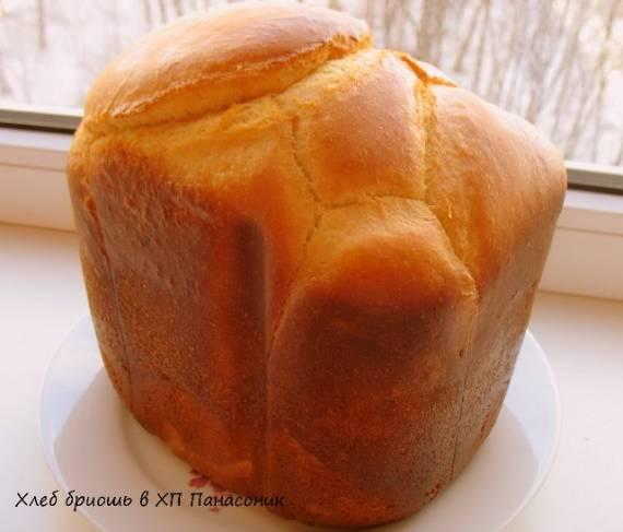 Хлеб бриошь в хлебопечке Panasonic SD-255