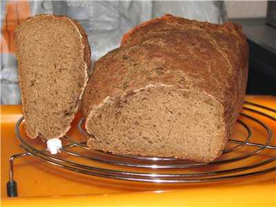 Ржаной хлеб для мужа (хлебопечка)