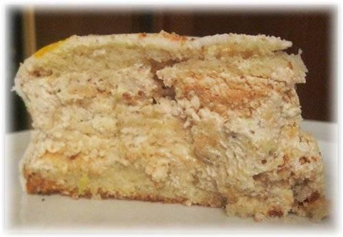 Торт-безе Миндально-коньячный